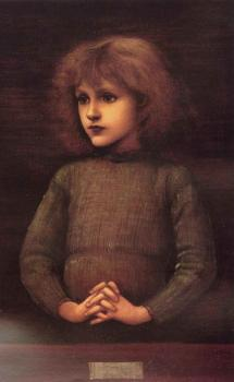 Sir Edward Coley Burne-Jones : Portrait of a Young Boy