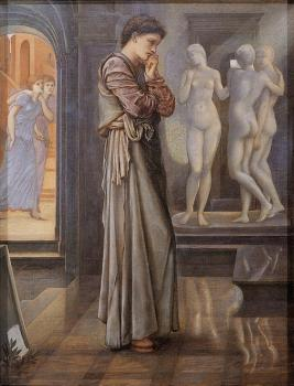 Sir Edward Coley Burne-Jones : Pygmalion and the Image 1 The Heart Desires