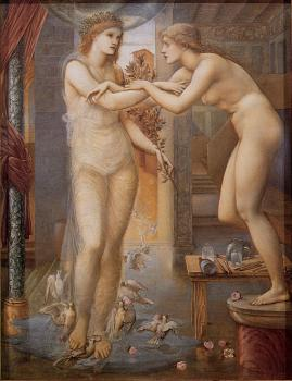 Sir Edward Coley Burne-Jones : Pygmalion and the Image 3 The Godhead Fires