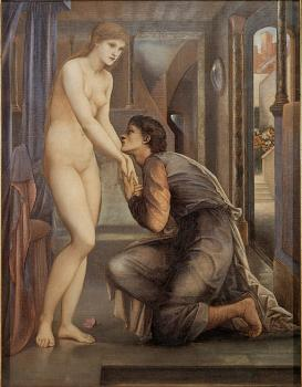 Sir Edward Coley Burne-Jones : Pygmalion and the Image 4 The Soul Attains