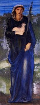 Sir Edward Coley Burne-Jones : St Agnes