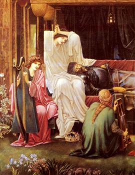Sir Edward Coley Burne-Jones : The Last Sleep Of Arthur In Avalon