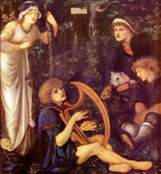 Sir Edward Coley Burne-Jones : The Madness Of Sir Tristram