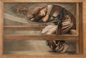 Sir Edward Coley Burne-Jones : Study for the Garden Court