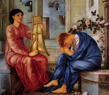 Sir Edward Coley Burne-Jones : The Lament II