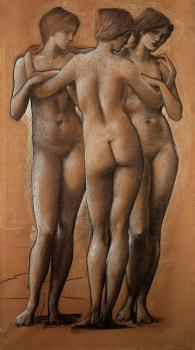 Sir Edward Coley Burne-Jones : The Three Graces