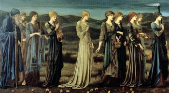 Sir Edward Coley Burne-Jones : The Wedding of Psyche
