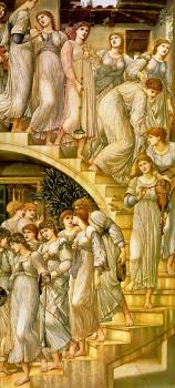 Sir Edward Coley Burne-Jones : The Golden Stairs II