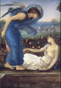 Sir Edward Coley Burne-Jones : Cupid Finding Psyche