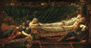 Sir Edward Coley Burne-Jones : Sleeping beauty