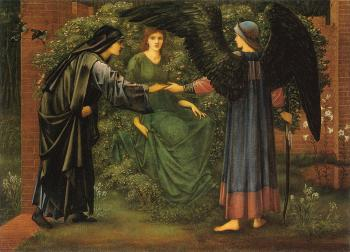 Sir Edward Coley Burne-Jones : The Heart of the Rose
