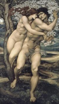 Sir Edward Coley Burne-Jones : The Tree of Forgiveness