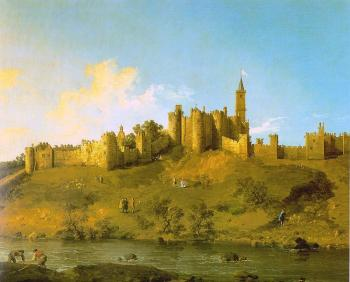 Canaletto : Alnwick Castle at Northumberland