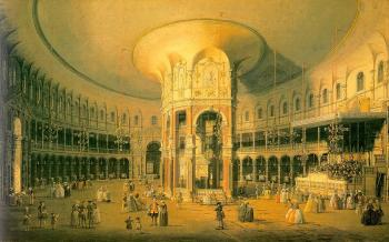 Canaletto : London, Ranelagh, the Interior of the Rotunda