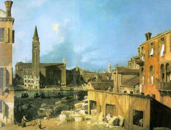 Canaletto : The Stonemason's Yard
