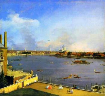 Canaletto : London, The Thames and the City of London