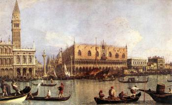 Canaletto : Palazzo Ducale and the Piazza di San Marco