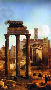 Canaletto : Rome, Ruins of the Forum