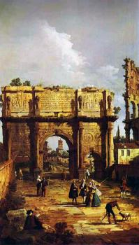 Canaletto : Rome, The Arch of Constantine