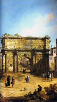 Canaletto : Rome, The Arch of Septimius Severus