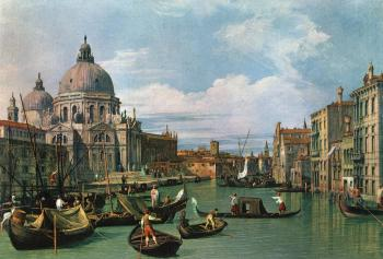 Canaletto : The Grand Canal and the Church of the Salute