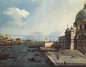 Canaletto : The Grand Canal at the Salute Church