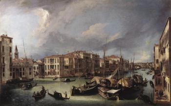 Canaletto : The Grand Canal with the Rialto Bridge in the Background