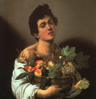 Caravaggio - Youth with a Flower Basket