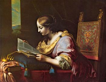 Carlo Dolci : St Catherine Reading a Book