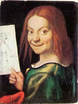 Read-headed Youth Holding a Drawing