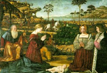 Carpaccio : Holy Family with Two Donors