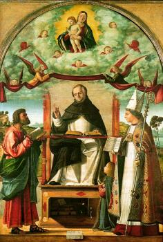 Carpaccio : St. Thomas in Glory between St. Mark and St. Louis of Toulouse