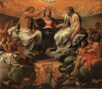 Annibale Carracci : The Coronation of the Virgin