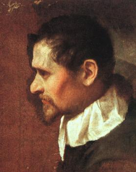 Annibale Carracci : Self-Portrait in Profile