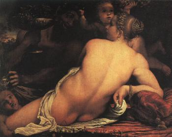 Annibale Carracci : Venus with Satyr and Cupids