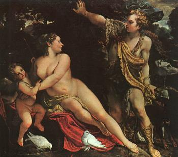 Annibale Carracci : Venus, Adonis, and Cupid