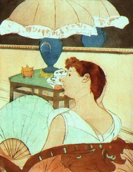 Mary Cassatt : The Lamp