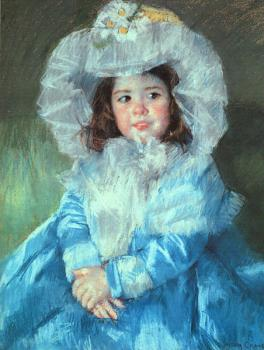 Mary Cassatt : Margot in Blue