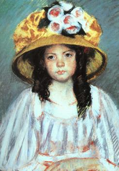 Cassatt, Mary - Fillette au Grand Chapeau