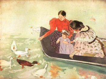 Mary Cassatt : Feeding the Ducks