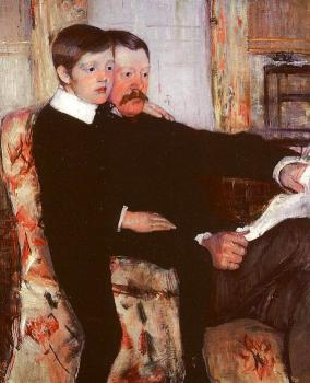 Mary Cassatt : Alexander J. Cassatt and his Son Robert Kelso