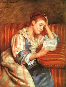 Mary Cassatt : Young Woman Reading