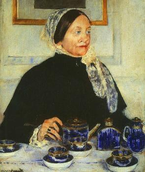 Cassatt, Mary - Lady at the Tea Table