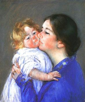 Mary Cassatt : A Kiss for Baby Anne