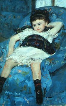 Little Girl in a Blue Armchair, detail