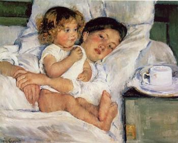 Mary Cassatt : Breakfast in Bed