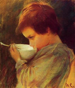 Mary Cassatt : Child Drinking Milk