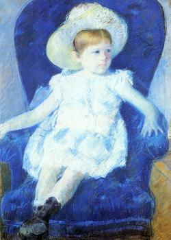Mary Cassatt : Elsie in a Blue Chair