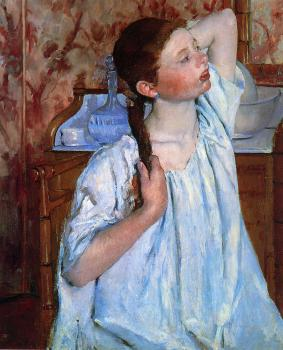 Mary Cassatt : Girl Arranging Her Hair
