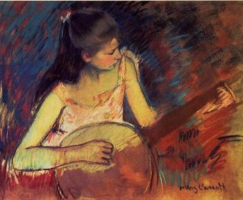 Mary Cassatt : Girl with a Banjo